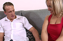 Curvy blonde wife enjoys being drilled by her hubby